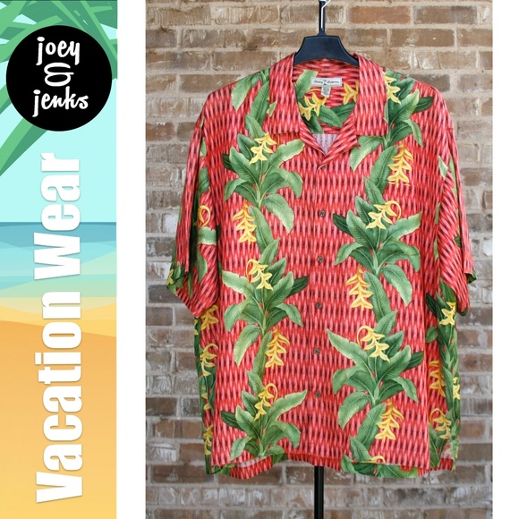 c043d4605 Tommy Bahama Shirts | Mens Red Green Hawaiian Shirt Xxl | Poshmark